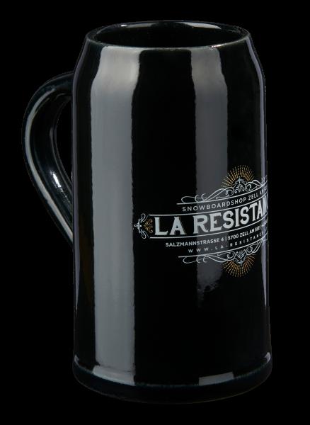 Steinzeug-Bierkrug schwarz 0,5l