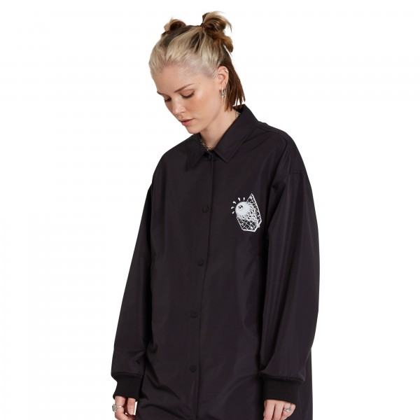 VLONG COACH JACKET BLACK